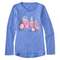Carhartt Girls' Watercolor Tractor Long-Sleeve T-Shirt