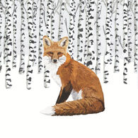 Paperproducts Design Wilderness Fox Beverage Napkin