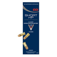 CCI Short HP 22 Short 27 Grain CPHP Rimfire Ammo (100)