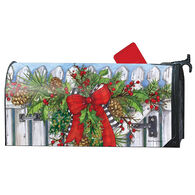 MailWraps Holiday Garland Magnetic Mailbox Cover