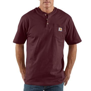 Carhartt Mens Workwear Short-Sleeve Henley Shirt