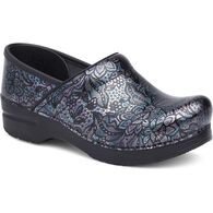Dansko Women's Henna Floral Patent Leather Professional Clog