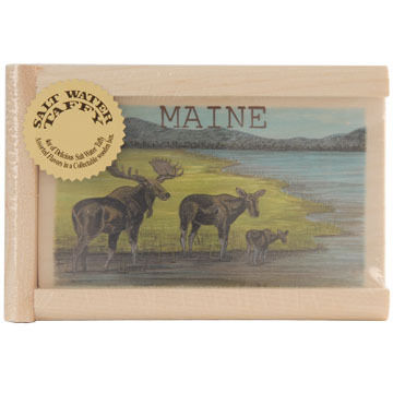 Maine Line Products Large Taffy Box - Multi-Moose Scene