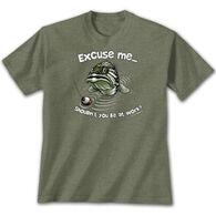 Earth Sun Moon Trading Men's Excuse Me Bass Short-Sleeve T-Shirt