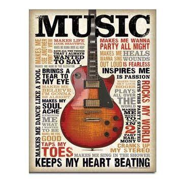 Desperate Enterprises Music Inspires Me Tin Sign
