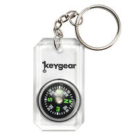 KeyGear Clear Compass Key Chain