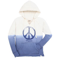 Lakeshirts Women's Blue 84 Annie's Peace Sign Maine Sweatshirt