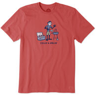 Life is Good Men's Chillin' Grillin' Crusher Short-Sleeve T-Shirt