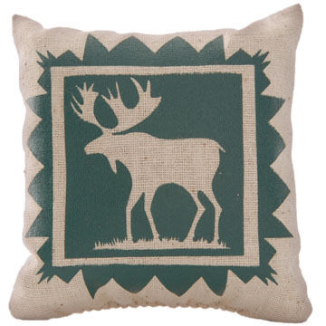 "Maine Balsam Fir 4"" x 4"" Indian Plain Moose Balsam Pillow"
