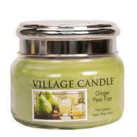 Village Candle Small Glass Jar Candle - Ginger Pear Fizz
