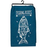 Kay Dee Designs Fishing Rules Flour Sack Towel