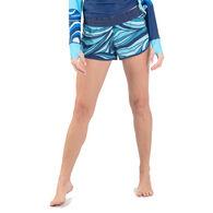 "Wave Life Women's Aqua Spray 5"" Side Tie Short"