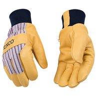 Kinco Men's Lined Grain Pigskin Glove with Knit Wrist