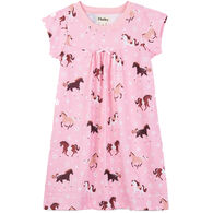 Hatley Girl's Frolicking Horses Nightdress