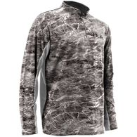 Huk Elements Icon 1/4 Zip Mock Neck Long-Sleeve Fishing Shirt