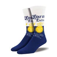 Socksmith Design Men's Corona Beer Crew Sock