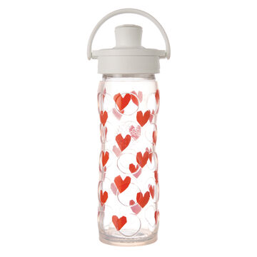 Lifefactory Tru Luv 16 oz. Glass Water Bottle w/ Active Flip Cap & Silicone Sleeve