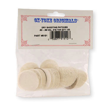 Ox-Yoke Originals Dry Shooting Patch - 100 Pk.