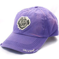 Life is Good Women's Tattered Rose Sunwashed Chill Cap