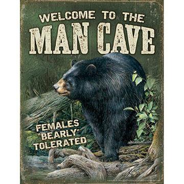 Wild Wings Man Cave Tin Sign