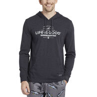 Life is Good Men's Timeless Values Hooded Crusher Long-Sleeve Shirt