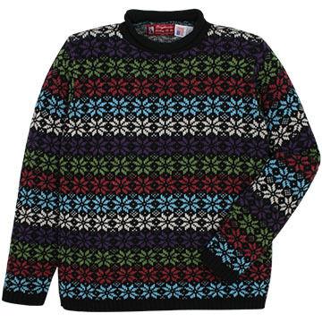 Binghamton Knitting Womens Snowflake Rollneck Sweater