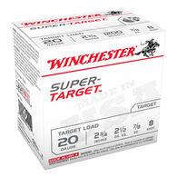 "Winchester Super-Target 20 GA 2-3/4"" 7/8 oz. #8 Shotshell Ammo (250)"
