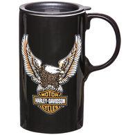 Evergreen Harley-Davidson Tall Boy Ceramic Travel Cup w/ Lid