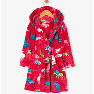Hatley Girls' Moose Towel Robe