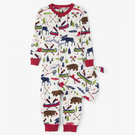 Hatley Boys' Little Blue House Sketch Country Coverall with Hat