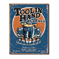 Desperate Enterprises Toolin Hand Tin Sign