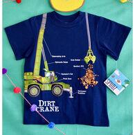 Spudz Toddler Boys' Dirt Crane Short-Sleeve T-Shirt