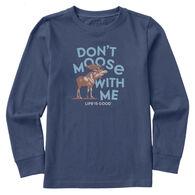 Life is Good Youth Big Moose Long-Sleeve Crusher Shirt