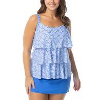 Beach House - Swimwear Anywear Women's Plus Size Jane Ruffle Ahoy There Tankini Swimsuit Top
