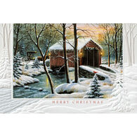Pumpernickel Press Winter Covered Bridge Deluxe Boxed Greeting Cards