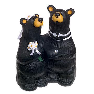 "Big Sky Carvers ""Wedding Couple"" Bear Figurine"
