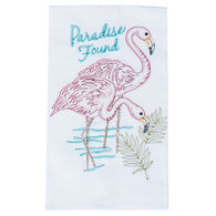 Kay Dee Designs Flamingo Embroidered Flour Sack Towel