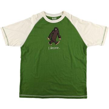 Lazy One Mens I Believe Bigfoot Pajama Short-Sleeve T-Shirt