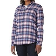 Dickies Women's Plaid Flannel Long-Sleeve Shirt