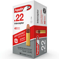 Aguila Interceptor 22 LR 40 Grain Copper-Plated Solid Point Ammo (50)