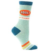Blue Q Women's Adult in Training Crew Sock