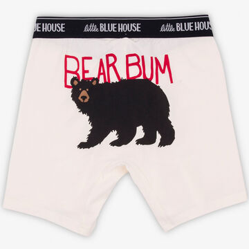 Hatley Little Blue House Mens Bear Bum Boxer