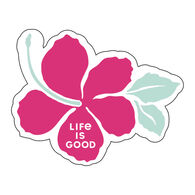 Life is Good Hibiscus Small Die Cut Decal