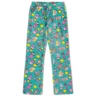 Candy Pink Girl's Rainbow Food Pajama Pant
