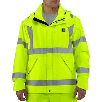Carhartt Mens Big & Tall High-Visibility Class 3 Waterproof Jacket