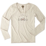 Life is Good Women's Good Bike Life Smooth Long-Sleeve T-Shirt