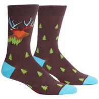 Sock It To Me Men's Horn To Be Wild Crew Sock