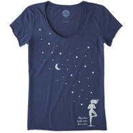 Life is Good Women's Celestial Yoga Smooth Scoop Short-Sleeve T-Shirt