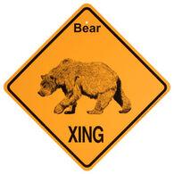 KC Creations Bear XING Sign