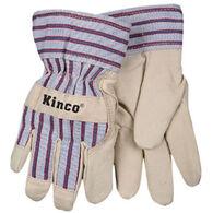 Kinco Boys' & Girls' Lined Ultra-Suede Glove w/Knit Wrist